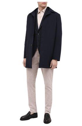 Мужской пиджак из шерсти и хлопка SARTORIA LATORRE темно-синего цвета, арт. G0I7MF Q80442 | Фото 2
