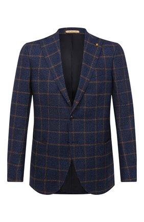 Мужской шерстяной пиджак SARTORIA LATORRE синего цвета, арт. G0I7MF Q80574 | Фото 1