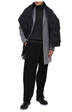 Мужской свитер из шерсти и кашемира ASPESI темно-серого цвета, арт. W0 Q M358 3831   Фото 2