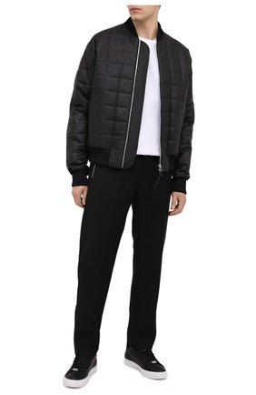 Мужские кожаные кеды PHILIPP PLEIN черного цвета, арт. F20S MSC2900 PLE008N | Фото 2