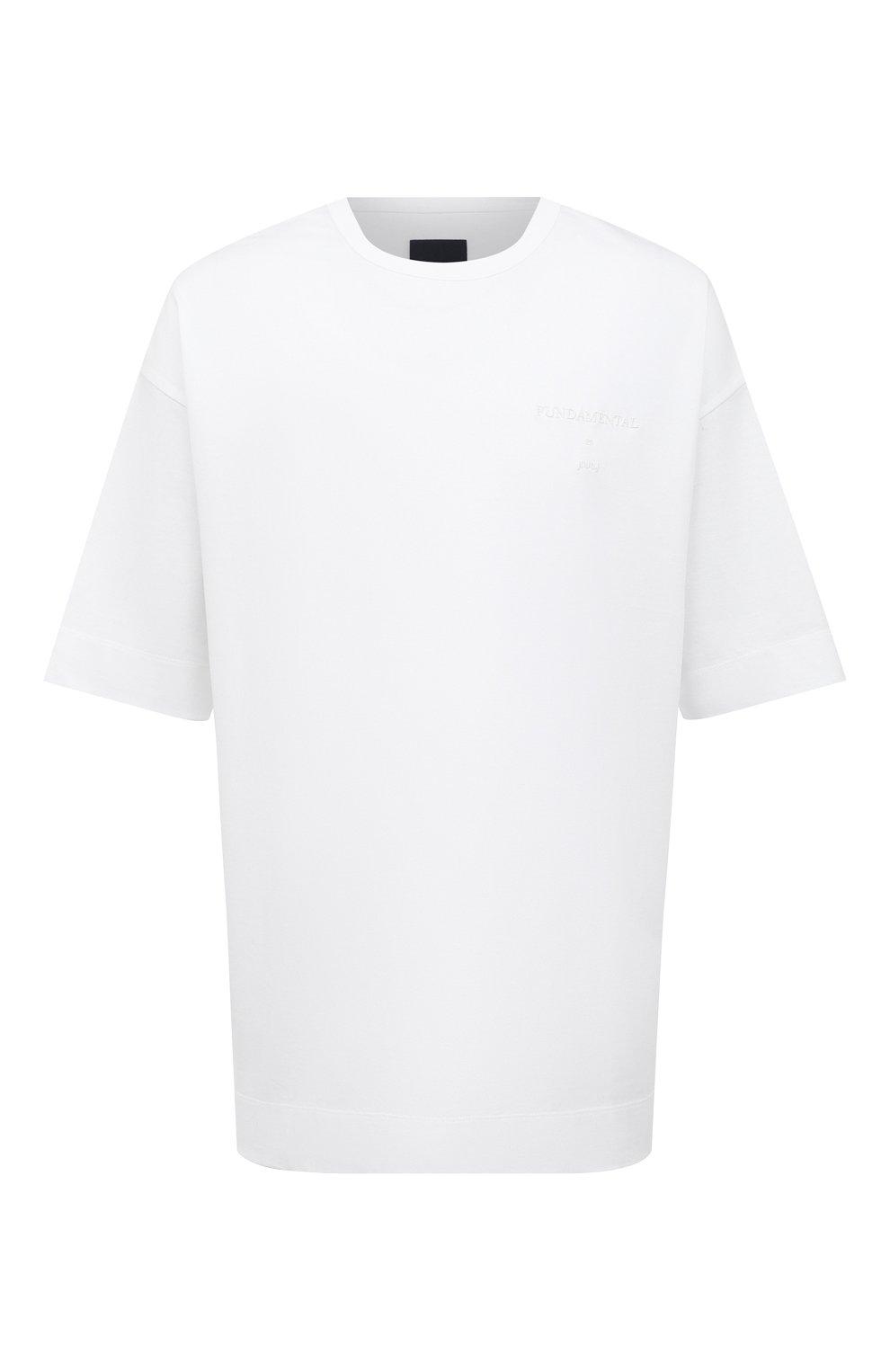 Мужская хлопковая футболка JUUN.J белого цвета, арт. JC0742P011   Фото 1