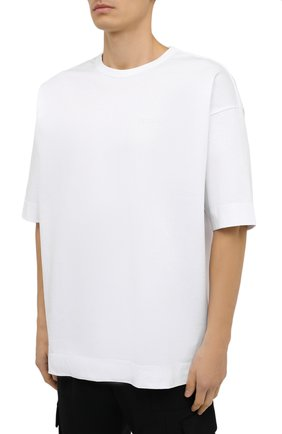 Мужская хлопковая футболка JUUN.J белого цвета, арт. JC0742P011   Фото 3
