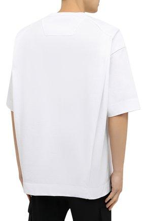 Мужская хлопковая футболка JUUN.J белого цвета, арт. JC0742P011   Фото 4
