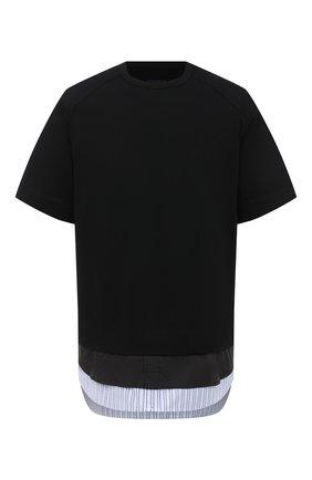Мужская хлопковая футболка JUUN.J черного цвета, арт. JC0742P035 | Фото 1