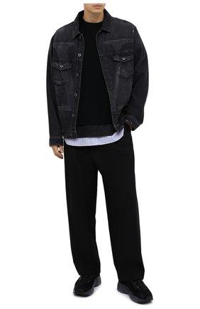 Мужская хлопковая футболка JUUN.J черного цвета, арт. JC0742P035 | Фото 2