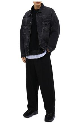 Мужской шерстяные брюки JUUN.J черного цвета, арт. JC0821P515 | Фото 2
