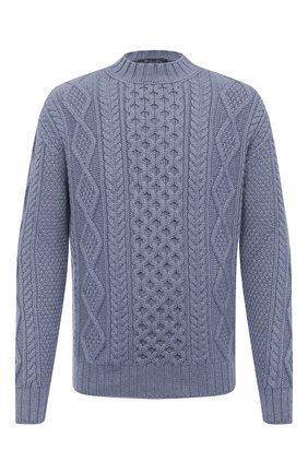 Мужской кашемировый свитер LORO PIANA голубого цвета, арт. FAL3442 | Фото 1