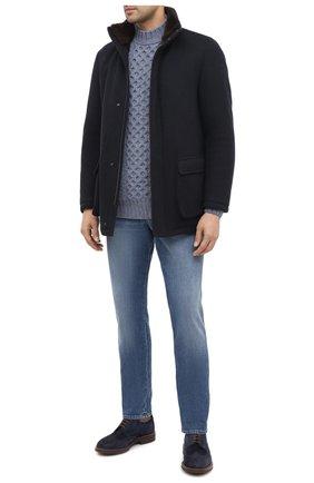 Мужской кашемировый свитер LORO PIANA голубого цвета, арт. FAL3442 | Фото 2