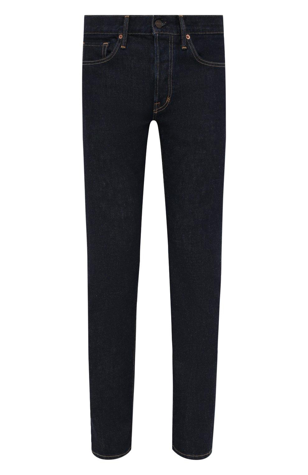 Мужские джинсы TOM FORD темно-синего цвета, арт. BVJ18/TFD002 | Фото 1