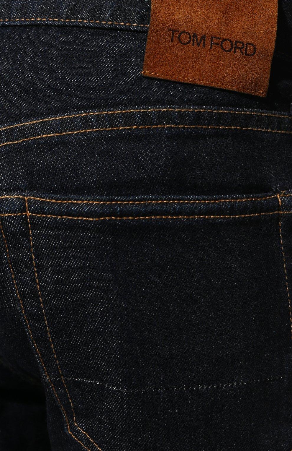 Мужские джинсы TOM FORD темно-синего цвета, арт. BVJ18/TFD002 | Фото 5