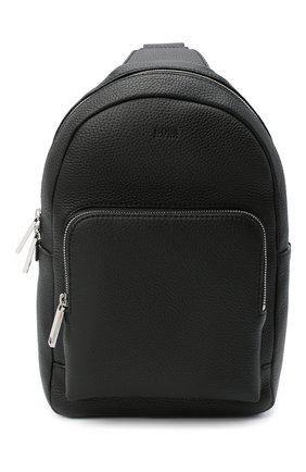 Мужской кожаный рюкзак BOSS черного цвета, арт. 50431685 | Фото 1