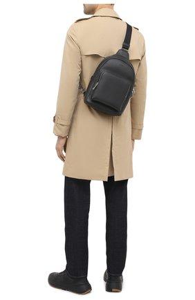 Мужской кожаный рюкзак BOSS черного цвета, арт. 50431685 | Фото 2