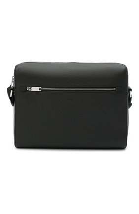 Мужская кожаная сумка BOSS черного цвета, арт. 50434881 | Фото 1