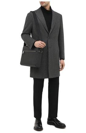 Мужская кожаная сумка BOSS черного цвета, арт. 50434881 | Фото 2