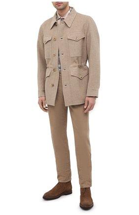 Мужская шерстяная куртка RALPH LAUREN бежевого цвета, арт. 790799303 | Фото 2