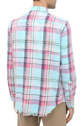 Мужская хлопковая рубашка POLO RALPH LAUREN разноцветного цвета, арт. 710796342/4771 | Фото 4