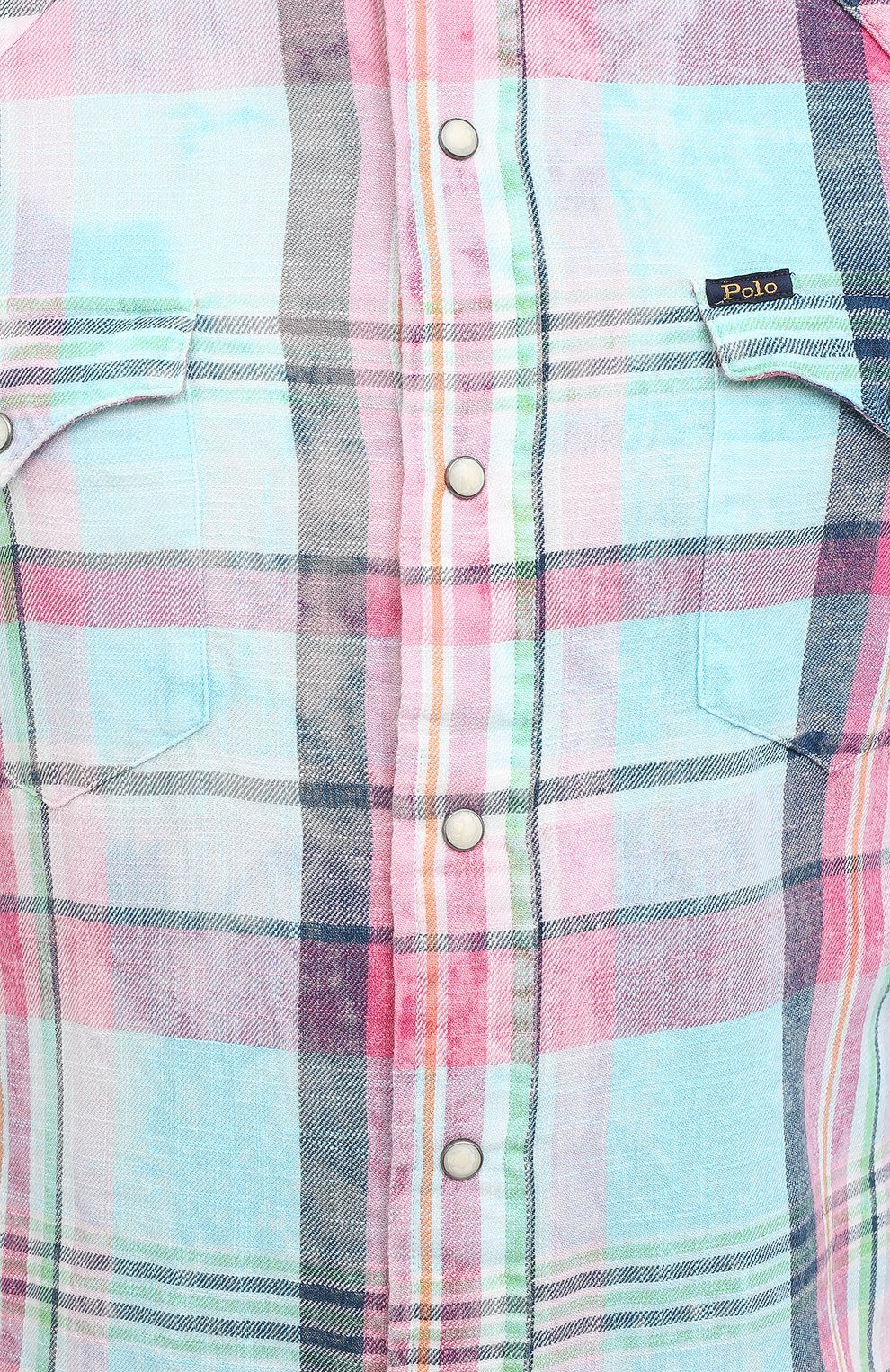 Мужская хлопковая рубашка POLO RALPH LAUREN разноцветного цвета, арт. 710796342/4771 | Фото 5