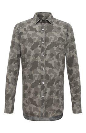 Мужская рубашка TOM FORD хаки цвета, арт. 8FT910/94VSEG | Фото 1