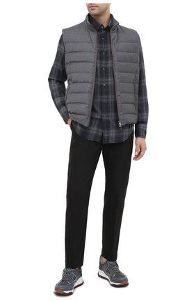 Мужская хлопковая рубашка TOM FORD темно-серого цвета, арт. 8FT850/94MEKI | Фото 2