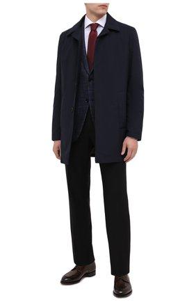 Мужская хлопковая сорочка TOM FORD синего цвета, арт. 8FT629/94SWAX | Фото 2 (Длина (для топов): Стандартные; Материал внешний: Хлопок; Рукава: Длинные; Случай: Формальный; Стили: Классический; Принт: Однотонные; Манжеты: На пуговицах; Мужское Кросс-КТ: Сорочка-одежда; Воротник: Акула)