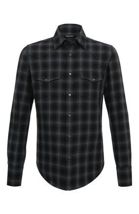 Мужская хлопковая рубашка TOM FORD серого цвета, арт. 8FT270/94MEKI | Фото 1