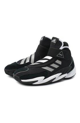Мужские кроссовки crazy byw ADIDAS ORIGINALS BY PHARRELL WILLIAMS черного цвета, арт. EG9919 | Фото 1