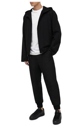 Мужские кожаные кеды yuben low Y-3 черного цвета, арт. FX0566/M | Фото 2
