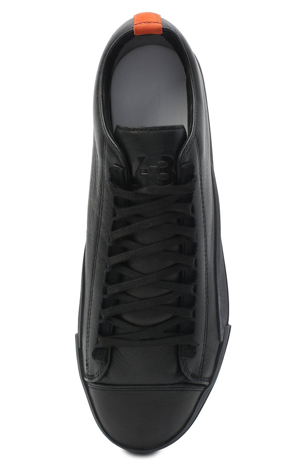 Мужские кожаные кеды yuben low Y-3 черного цвета, арт. FX0566/M | Фото 5
