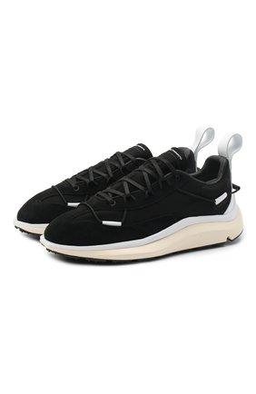Мужские комбинированные кроссовки shiku run Y-3 черного цвета, арт. FX1416/M | Фото 1