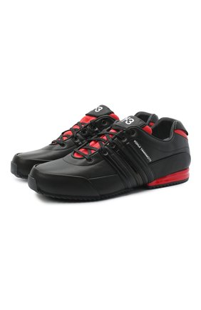 Мужские кожаные кроссовки sprint Y-3 черного цвета, арт. FY5930/M | Фото 1