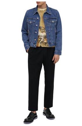 Мужская джинсовая куртка DRIES VAN NOTEN голубого цвета, арт. 202-20531-1386 | Фото 2