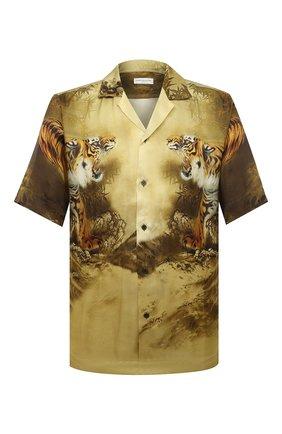 Мужская рубашка из вискозы DRIES VAN NOTEN разноцветного цвета, арт. 202-20717-1075 | Фото 1