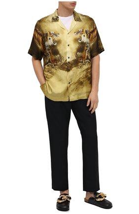 Мужская рубашка из вискозы DRIES VAN NOTEN разноцветного цвета, арт. 202-20717-1075 | Фото 2