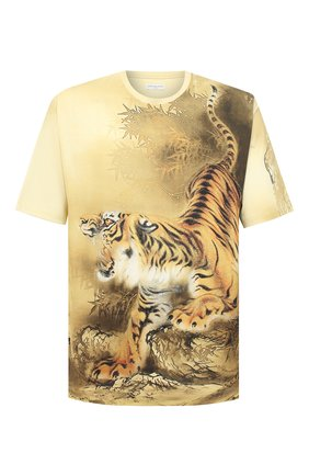 Мужская хлопковая футболка DRIES VAN NOTEN желтого цвета, арт. 202-21122-1603   Фото 1