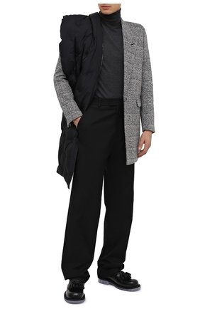 Мужской шерстяная водолазка DRIES VAN NOTEN серого цвета, арт. 202-21205-1700 | Фото 2