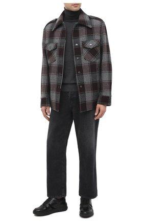 Мужские кожаные кеды HUGO черного цвета, арт. 50440290 | Фото 2