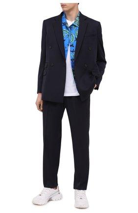 Мужской шерстяные брюки STELLA MCCARTNEY темно-синего цвета, арт. 583642/SPA03 | Фото 2