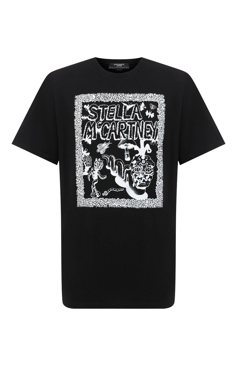 Мужская хлопковая футболка STELLA MCCARTNEY черного цвета, арт. 569294/SMP79   Фото 1