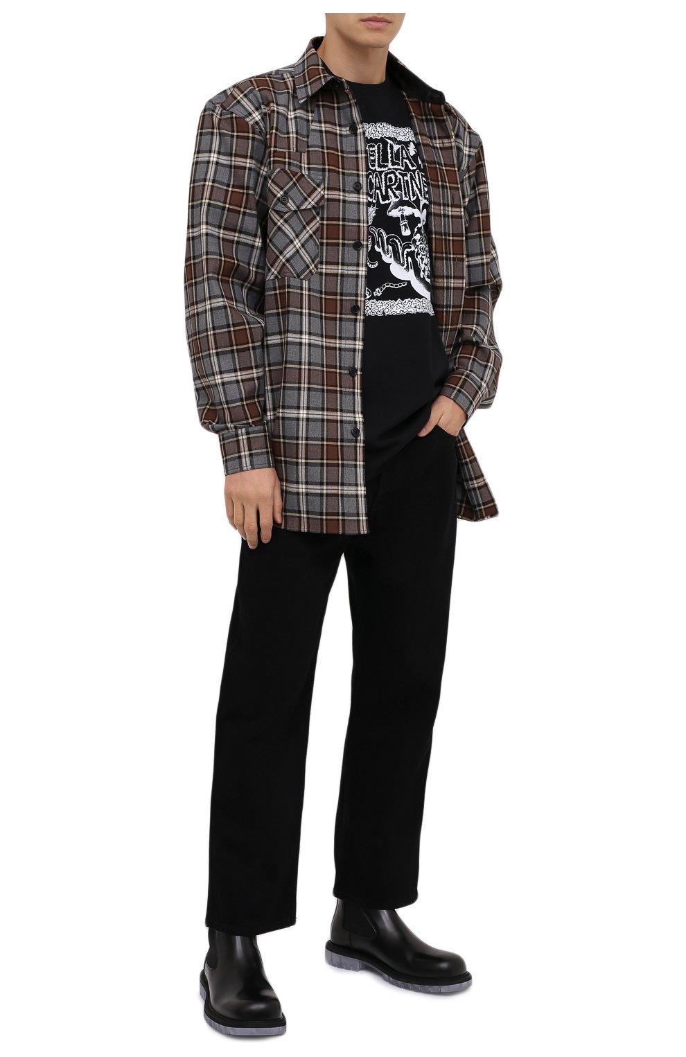 Мужская хлопковая футболка STELLA MCCARTNEY черного цвета, арт. 569294/SMP79   Фото 2