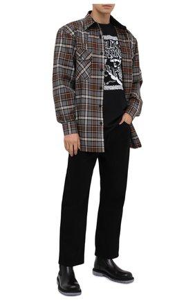 Мужская хлопковая футболка STELLA MCCARTNEY черного цвета, арт. 569294/SMP79 | Фото 2