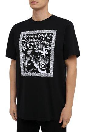 Мужская хлопковая футболка STELLA MCCARTNEY черного цвета, арт. 569294/SMP79   Фото 3
