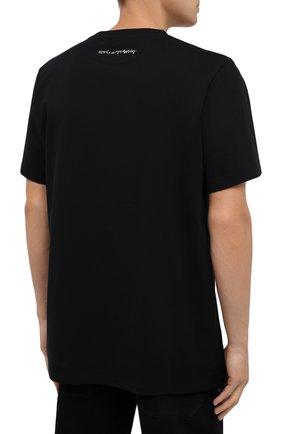 Мужская хлопковая футболка STELLA MCCARTNEY черного цвета, арт. 569294/SMP79   Фото 4