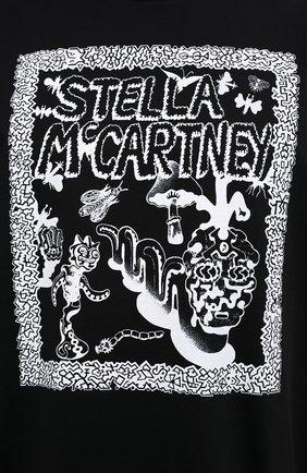 Мужская хлопковая футболка STELLA MCCARTNEY черного цвета, арт. 569294/SMP79   Фото 5