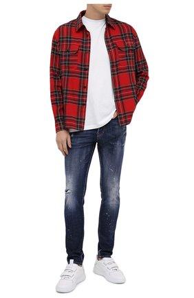 Мужские джинсы DSQUARED2 синего цвета, арт. S71LB0777/S30342 | Фото 2