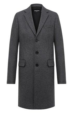 Мужской шерстяное пальто DSQUARED2 серого цвета, арт. S74AA0225/S53103 | Фото 1