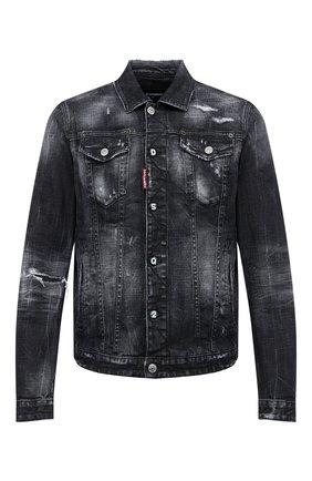 Мужская джинсовая куртка DSQUARED2 черного цвета, арт. S74AM1106/S30357 | Фото 1