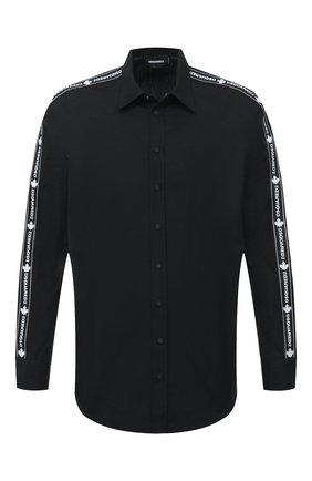 Мужская хлопковая рубашка DSQUARED2 черного цвета, арт. S74DM0449/S36275 | Фото 1