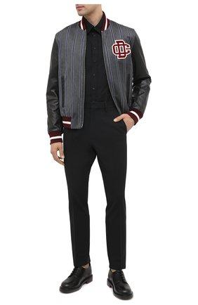 Мужская хлопковая рубашка DSQUARED2 черного цвета, арт. S74DM0449/S36275 | Фото 2