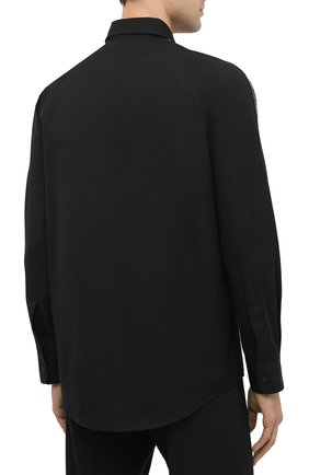 Мужская хлопковая рубашка DSQUARED2 черного цвета, арт. S74DM0449/S36275   Фото 4