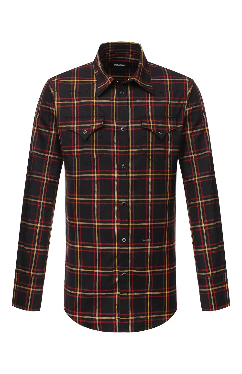Мужская хлопковая рубашка DSQUARED2 разноцветного цвета, арт. S74DM0457/S52983 | Фото 1